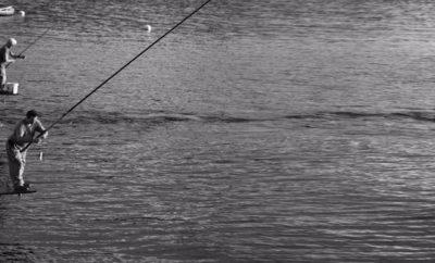 Pesca all'agone sul Lago di Como